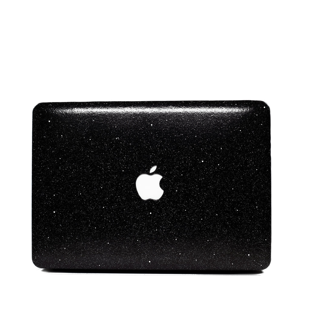 Black Glitter Macbook Case from Embrishop.com