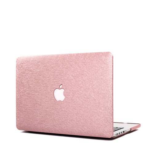 Dusty Rose Silk MacBook Case