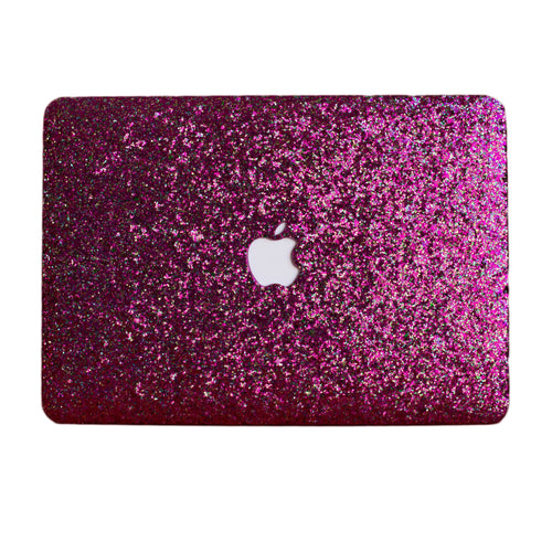 Multi-Pink Glitter MacBook Case