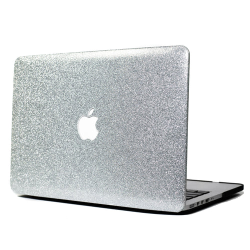 Glitter Macbook Case- Silver (smooth) - Embrishop  - 1