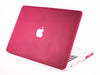 Matte Macbook Case- Maroon - Embrishop  - 1