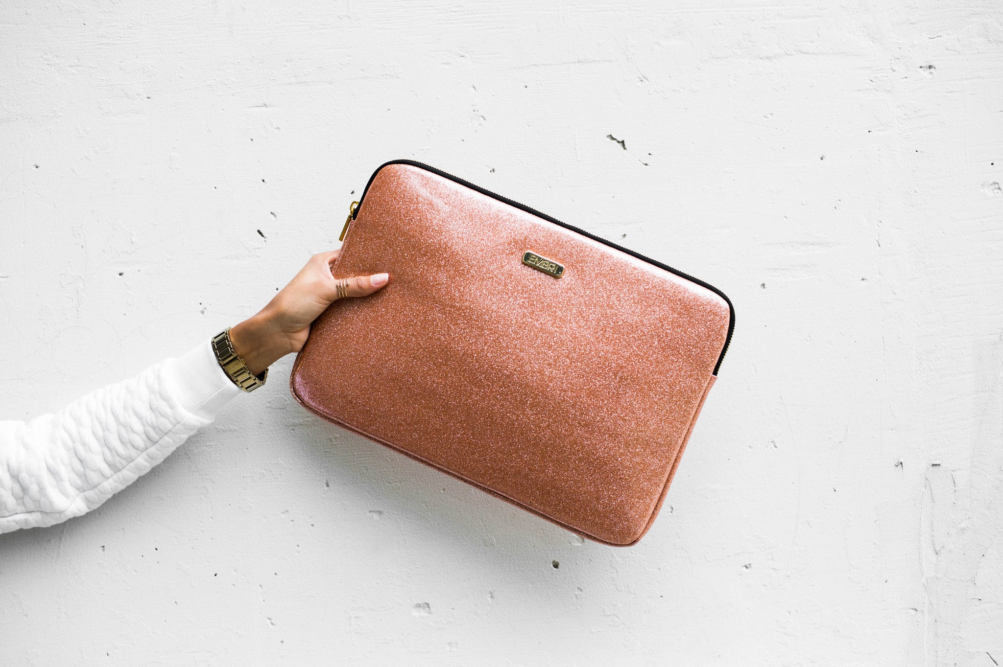 "Rose Gold 13"" Laptop Sleeve - Embrishop  - 3"