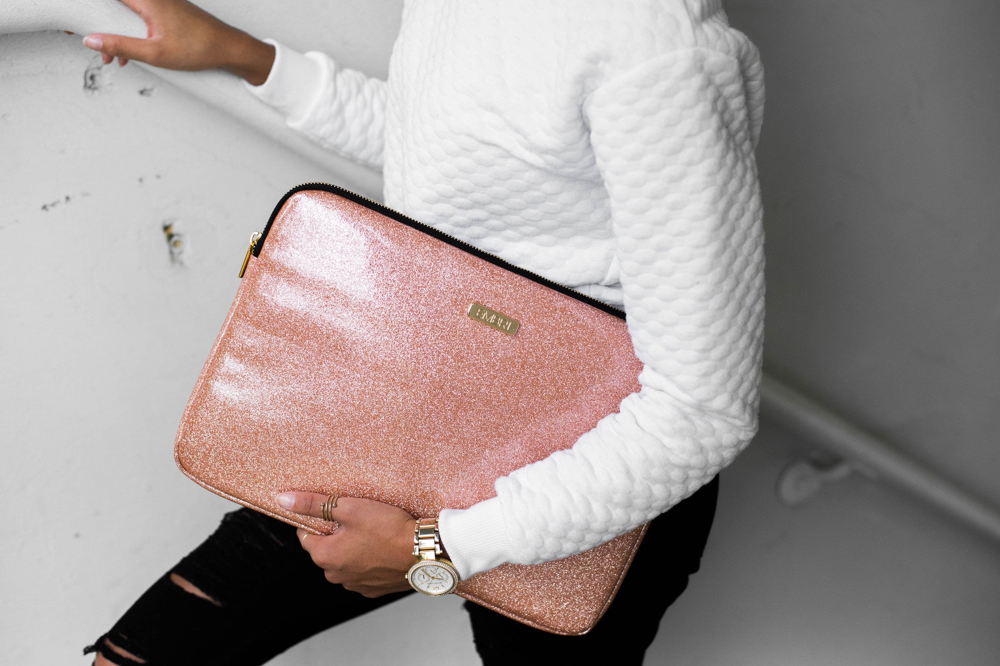 "Rose Gold 13"" Laptop Sleeve - Embrishop  - 2"