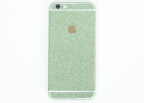 Glitter iPhone Wrap- Green - Embrishop  - 1