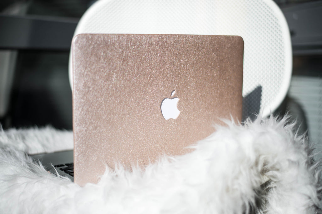 Silk Macbook Case- Light Gold - Embrishop  - 2
