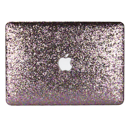 White Frost Glitter MacBook Case