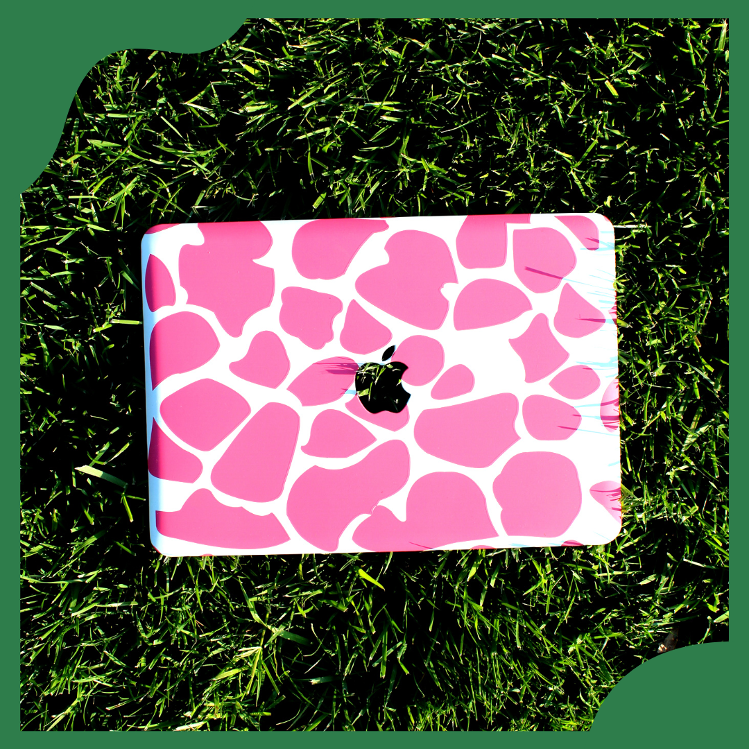 Pink Giraffe Print MacBook Case - Sample Sale