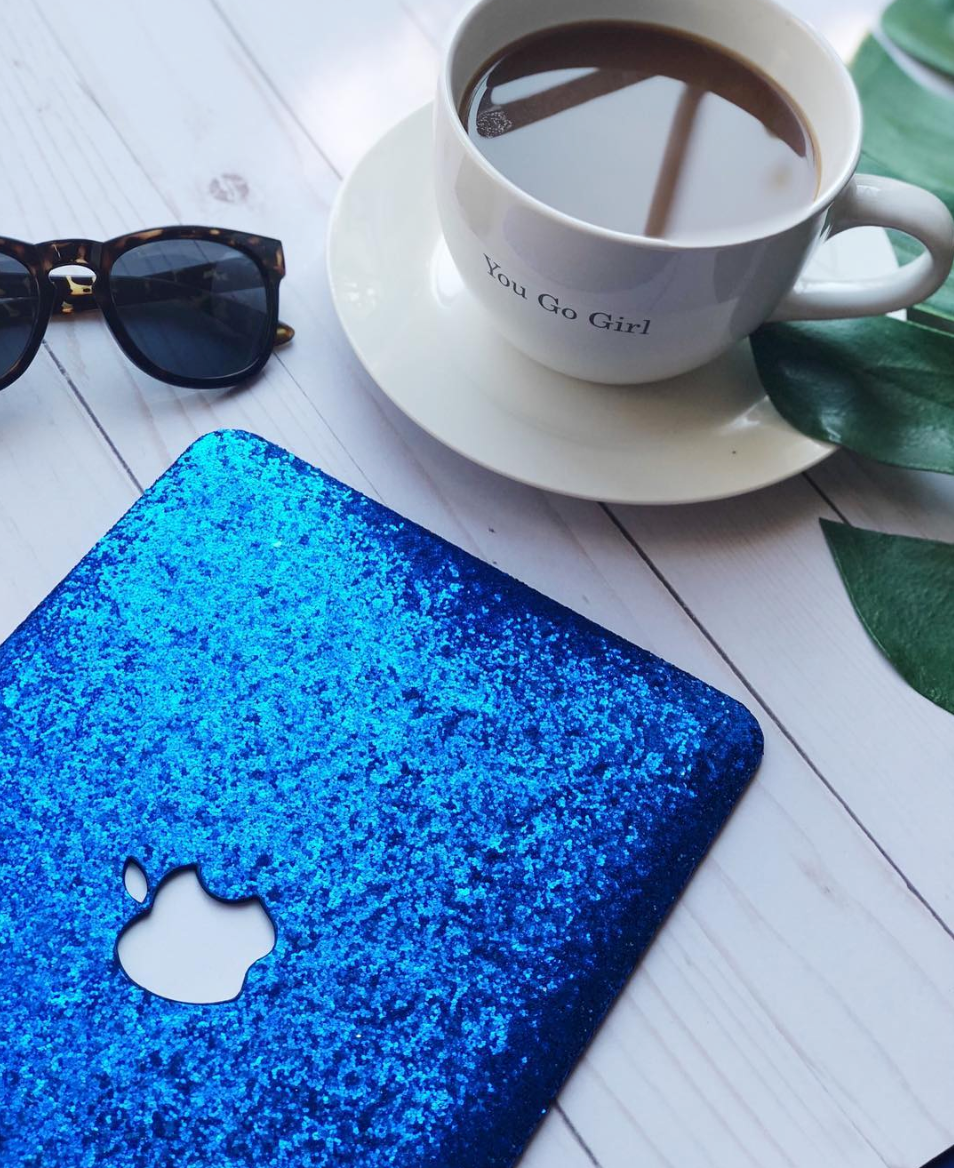 "Cobalt Blue Glitter MacBook Case - 11"" MacBook Air"