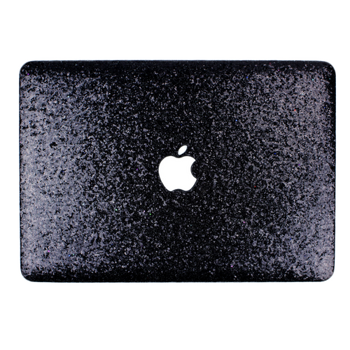 Black Glitter MacBook Case