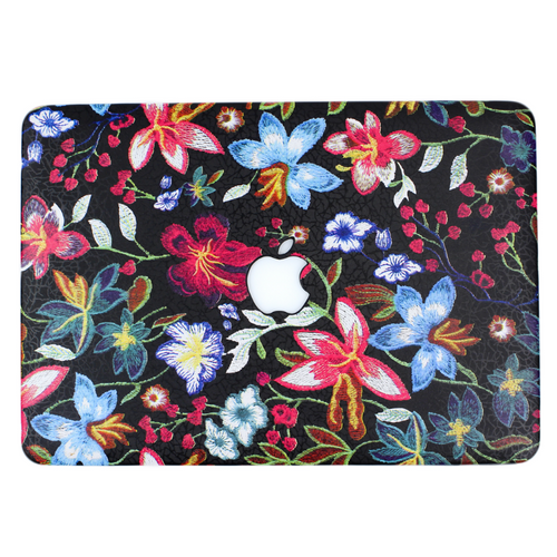 Embroidered Floral MacBook Case