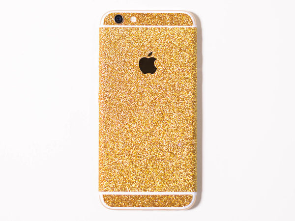 Glitter iPhone Wrap- Gold - Embrishop  - 1