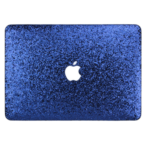 Navy Glitter MacBook Case