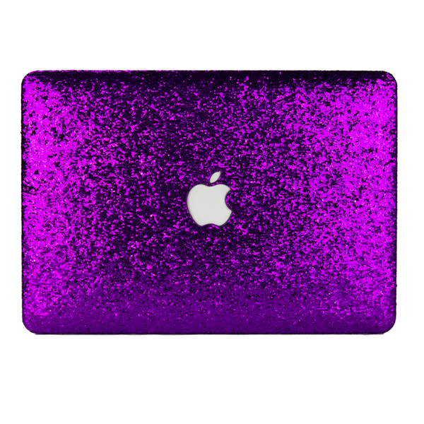 Violet Glitter MacBook Case