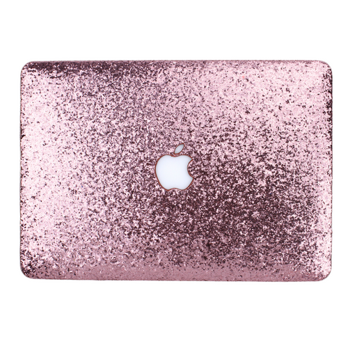 Rose Quartz Glitter MacBook Case