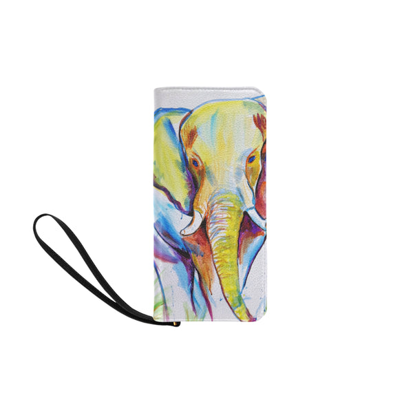 Elephant W Clutch Purse