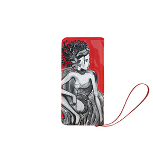 Silver Woman Clutch Wallet