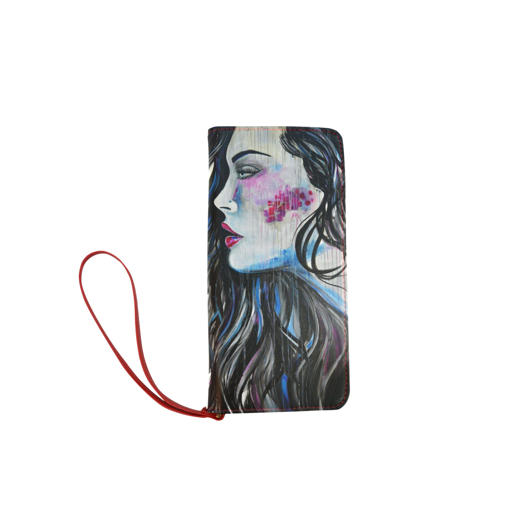 Rain Face Clutch Wallet