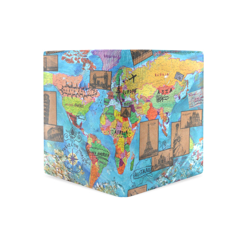 World Map 2 Men's Wallet