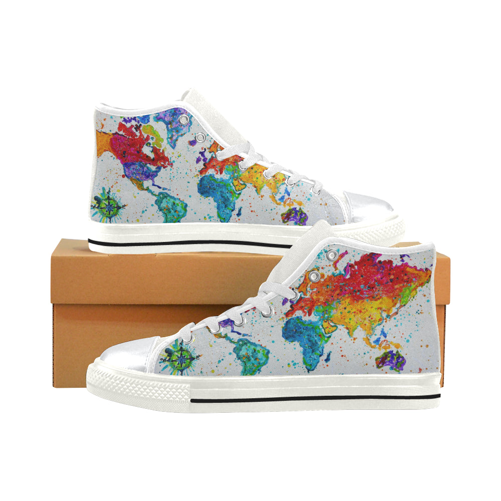 World High Top Canvas Shoes