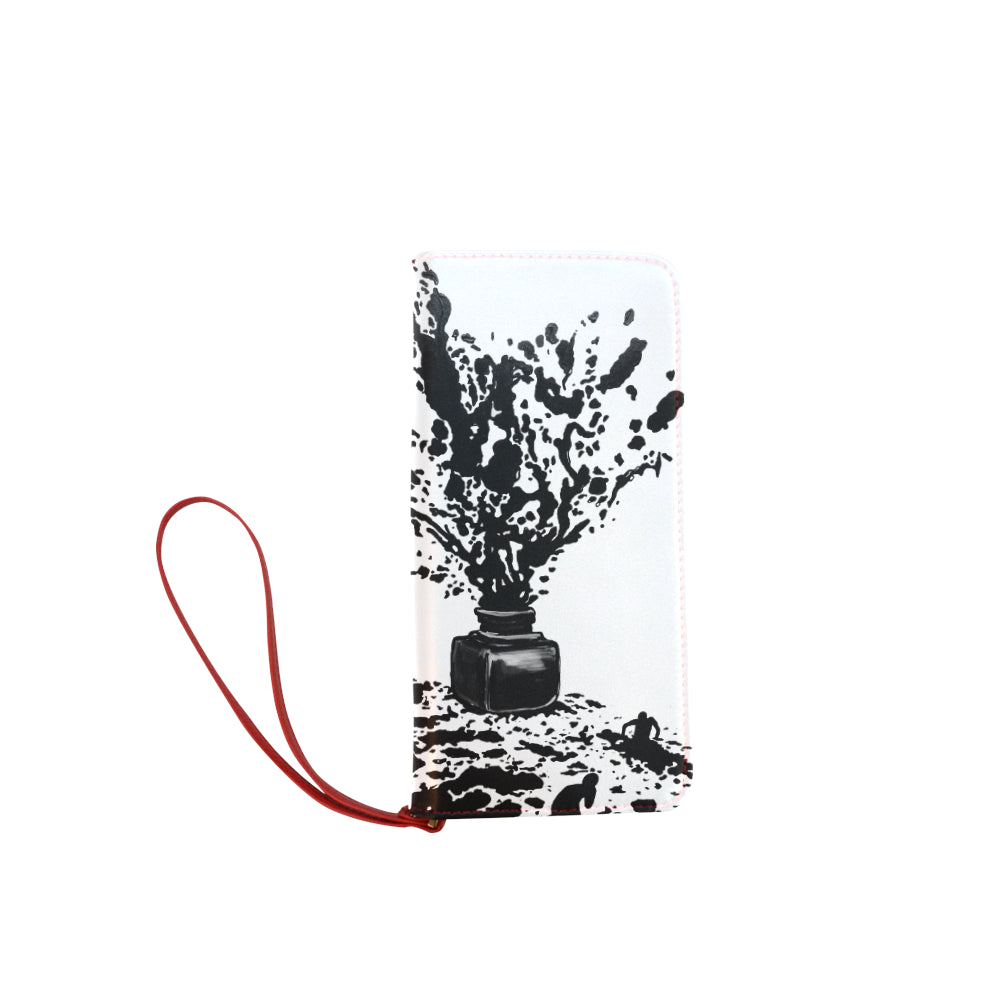Ink Bottle Clutch Wallet
