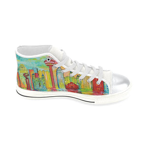 SA Day White High Top Canvas Shoes