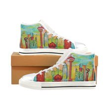 Load image into Gallery viewer, SA Day White High Top Canvas Shoes