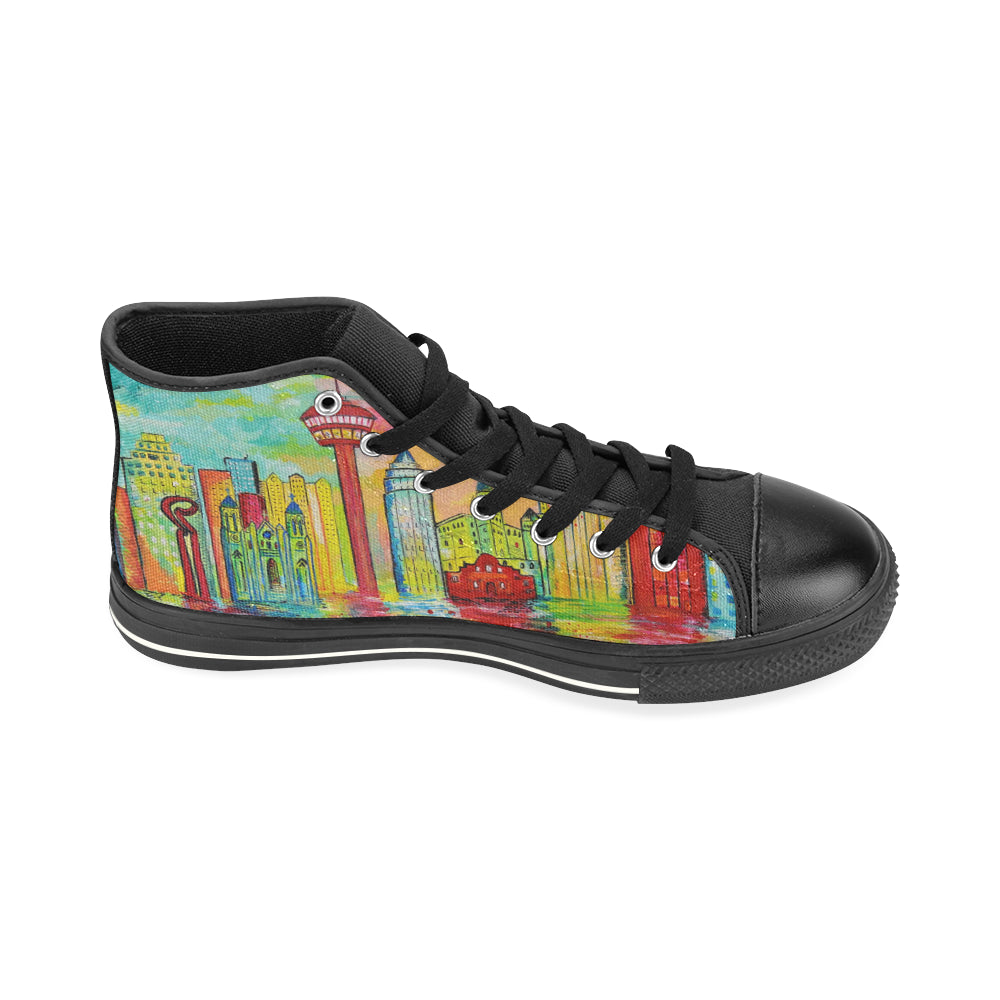 SA Day High Top Canvas Shoes