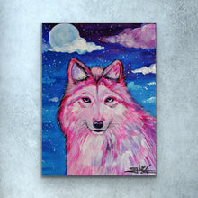 Load image into Gallery viewer, Pink Wolf Prints