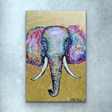 Load image into Gallery viewer, Gold Elephant Print