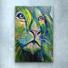 Load image into Gallery viewer, Green Lion Print