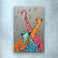 Load image into Gallery viewer, Giraffe Love Print