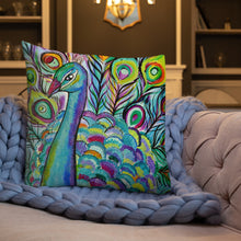 Load image into Gallery viewer, Peacock Premium Pillow