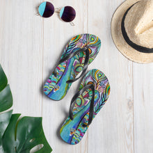 Load image into Gallery viewer, Peacock Flip-Flops