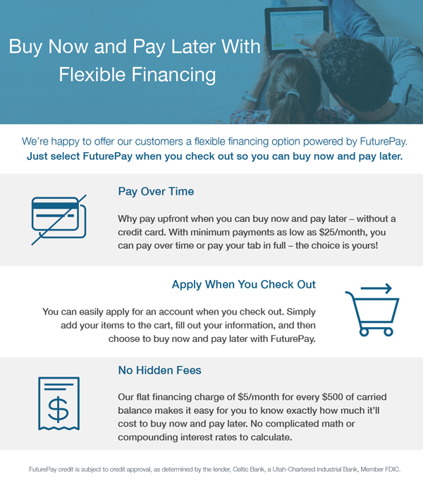 Buy your drone now, pay later with financing from FuturePay.