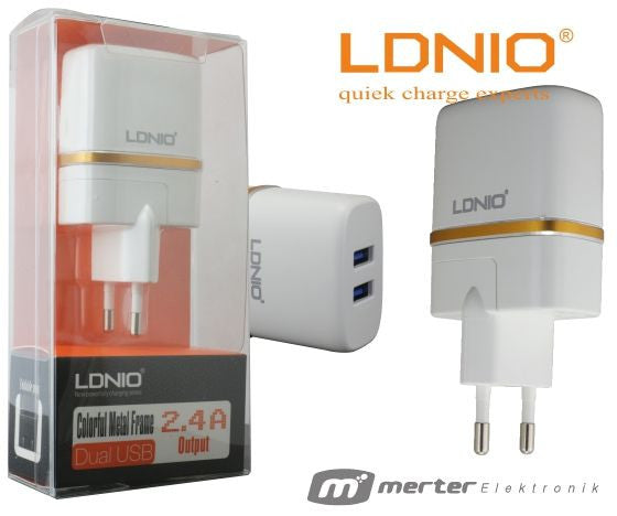 LDNIO DL-AC52 micro USB Smart Travel Charger Dual Port