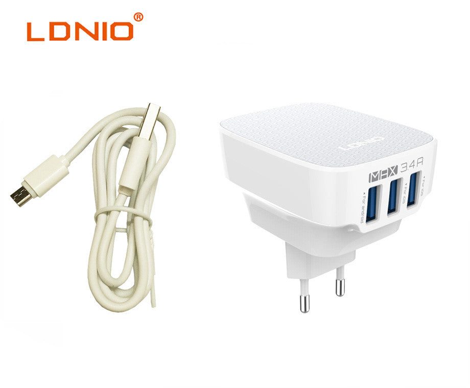 Travel Charger Universal LDNIO DL-AC65 3xUSB 3.4A