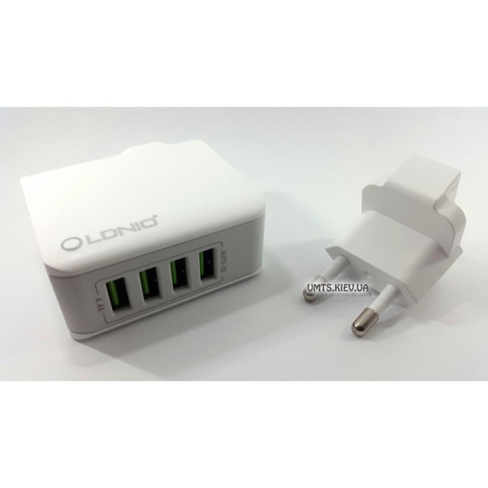 LDNIO A4403 4.4A 4 Port Travel Charger with UK Plug