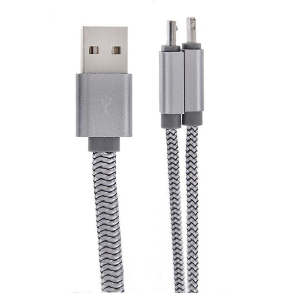 LDNIO LC86 Usb Charging Cable 2 In 1 For Ios/ Android