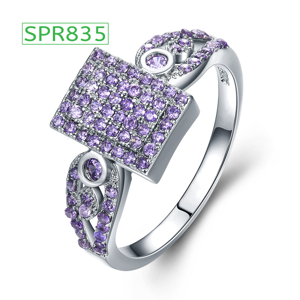 SPR835 Sliver white Gold Plated Ring For Girls