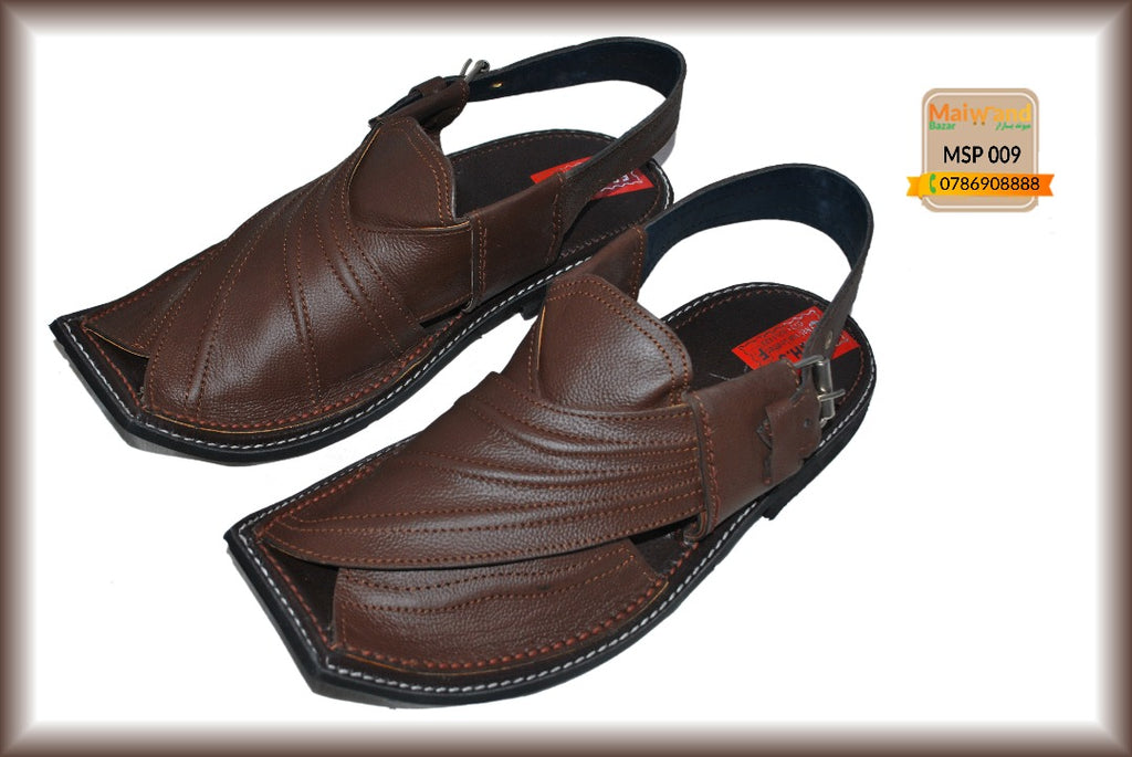 MSP009 New Hand Made Leather Peshawri Chappal