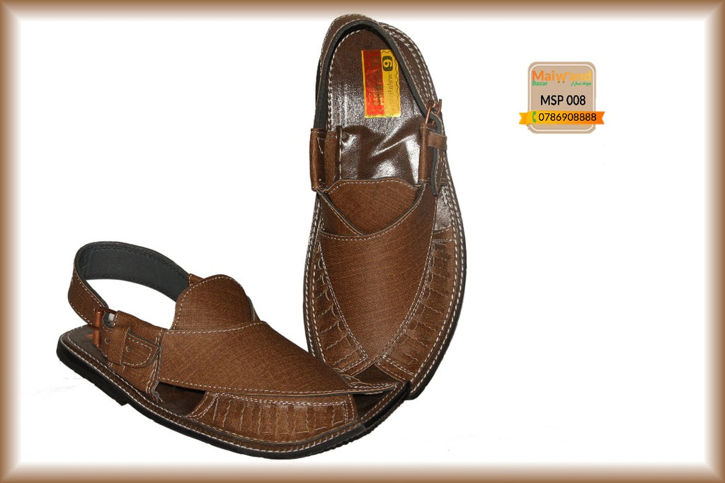 MSP008 New Hand Made Leather Peshawri Chappal
