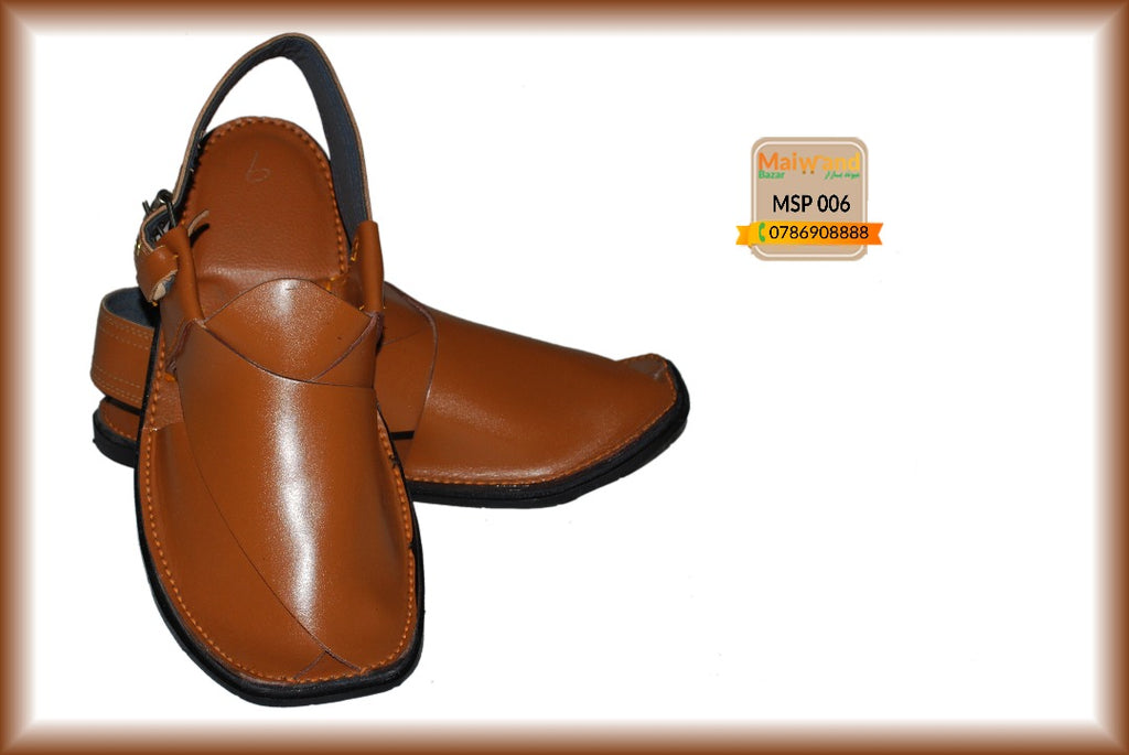 MSP006 New Hand Made Leather Peshawri Chappal