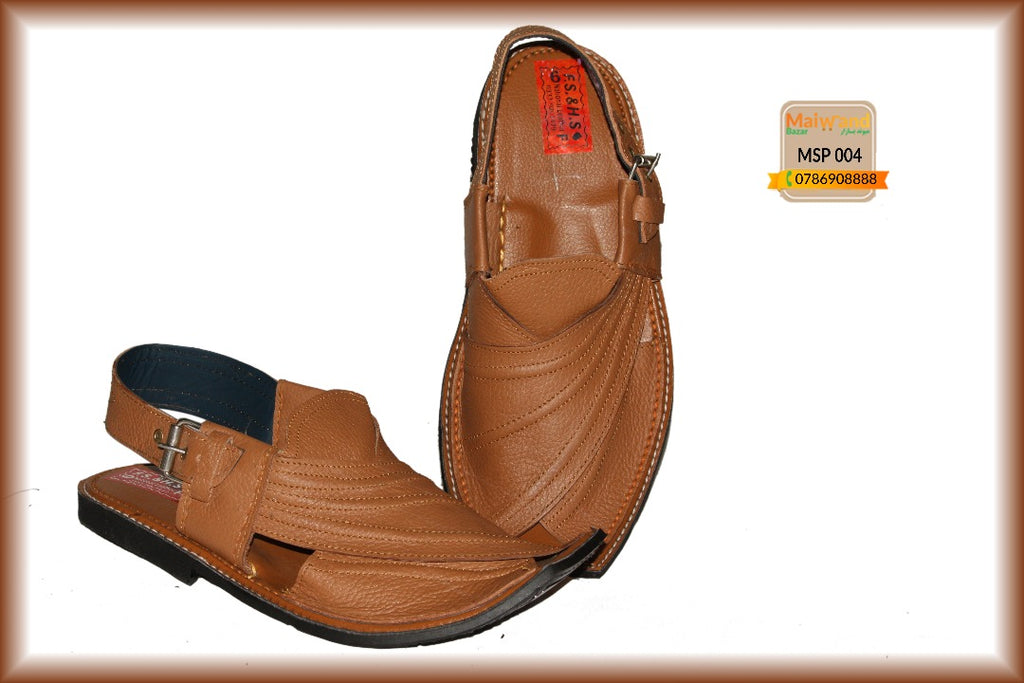 MSP004 New Hand Made Leather Peshawri Chappal