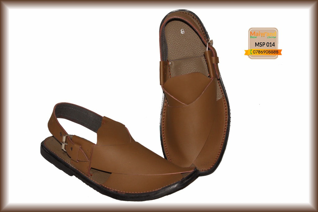MSP014 New Hand Made Leather Peshawri Chappal