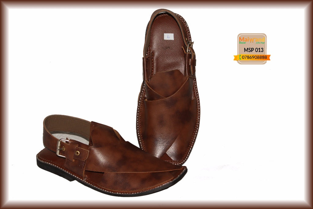 MSP013 New Hand Made Leather Peshawri Chappal