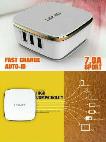 LDNIO A6704 Qualcomm Fast Quick Charger