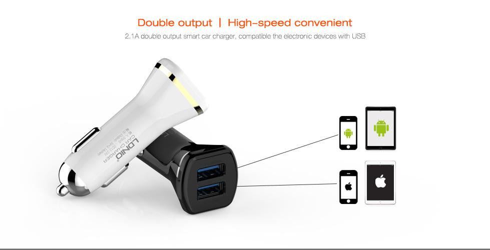 LDNIO DL-DC219 Universal USB Car Chargers/Dual USB