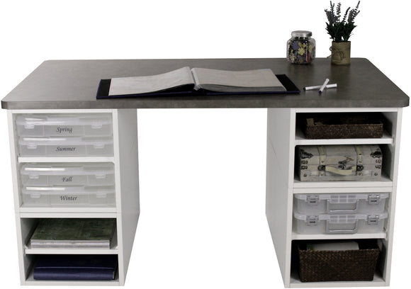 Basic Eight Cube Desk - Legacy Woodcrafters LLC,  Package - Legacy Woodcrafters LLC