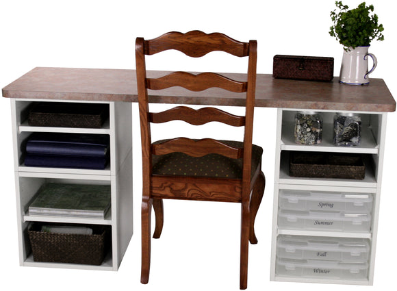Basic Four Cube Desk - Legacy Woodcrafters LLC,  Package - Legacy Woodcrafters LLC