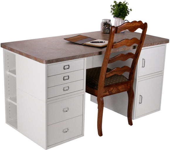 Karo's Office Desk - Legacy Woodcrafters LLC,  Package - Legacy Woodcrafters LLC